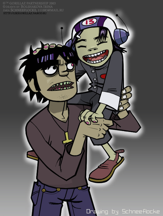 murdoc and noodle dating simulator